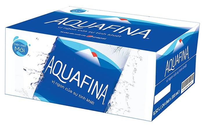 Thùng nước suối Aquafina 350ml (24 chai)