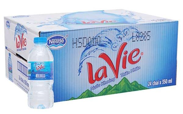Thùng 24 Chai Nước Khoáng Lavie 350ml