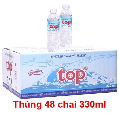 nước suối chai nhỏ thung nuoc uong top 48 chai 330ml 4