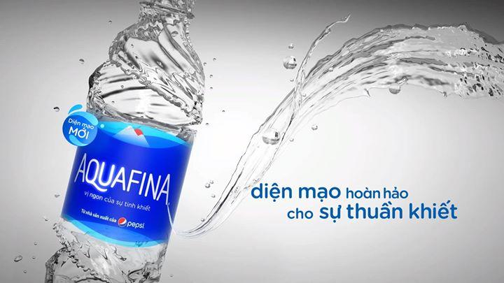 Nước tinh khiết Aquafina diện mạo mới