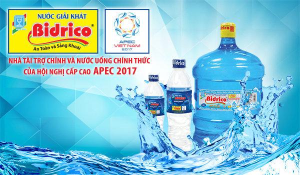 Thương hiệu nước uống Bidrico đồng hành cùng APEC 2017