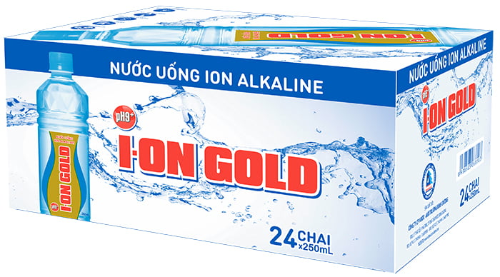 nước ion gold thung nuoc ion gold 250ml