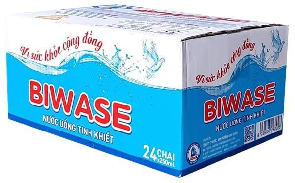 Thùng nước tinh khiết Biwase 250ml